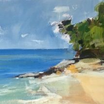 Mango Bay, Phu Quoc, acylic on paper, mounted on panel