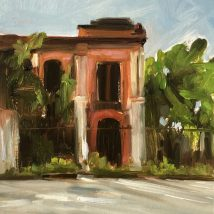Abandoned, Yangoon, oil on paper, mounted on panel