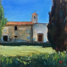 Bagno a Ripoli, oil on panel