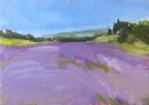 Lavender field, Provence, oil on cardboard