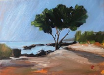 Morning in Mango Bay, Phu Quoc, oil on panel