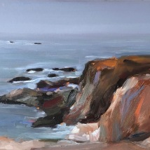 Mendocino coast, oil on panel, SOLD