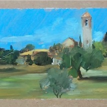 Bagno a Ripoli 2, oil on cardboard