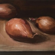 Shallots, oil on canvas