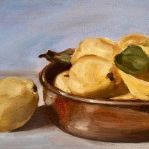 Quince, oil on panel, SOLD