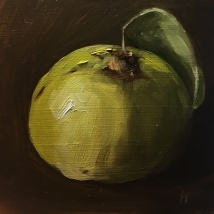 Quince, oil on panel