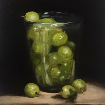 Gooseberries in a glass, SOLD