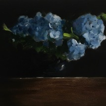 Hydrangea, oil on panel, NFS