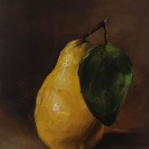Yellow Pear, Oil on panel, SOLD