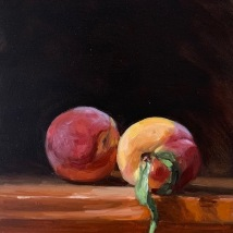 """Two peaches, 7""""x5"""", SOLD"""