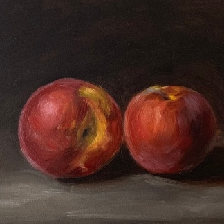 Peaches, oil on panel, SOLD